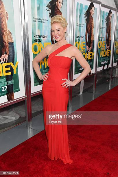 Actress Katherine Heigl attends the One for the Money premiere at the AMC Loews Lincoln Square on January 24 2012 in New York City