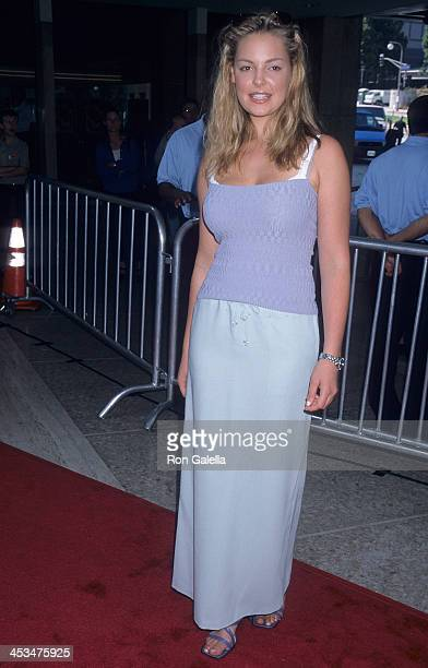 Actress Katherine Heigl attends the 'Thomas and the Magic Railroad' Century City Premiere on July 22 2002 at Loews Cineplex Century Plaza Theatres in...
