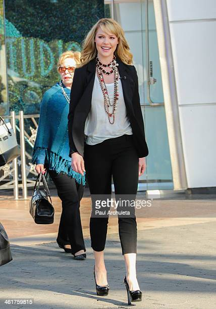 Actress Katherine Heigl is seen at Universal City Walk on January 10, 2014 in Los Angeles, California.