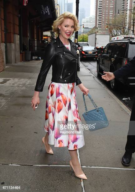 Actress Katherine Heigl is seen walking in Soho on April 21 2017 in New York City