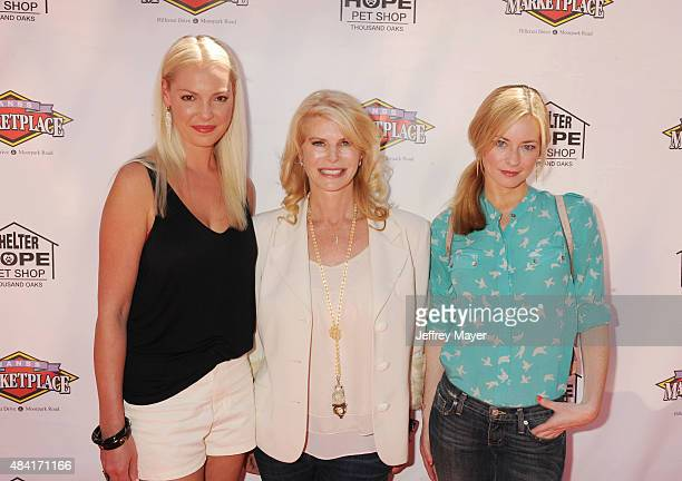Actress Katherine Heigl producer Kim Sill and actress Jessica Morris attend the 'Saved In America' screening and QA at the Regency Agoura Hills...