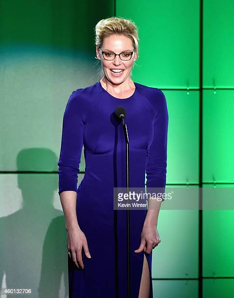 Actress Katherine Heigl speaks onstage during 'TrevorLIVE LA' Honoring Robert Greenblatt Yahoo and Skylar Kergil for The Trevor Project presented by...