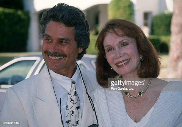 Actress Katherine Helmond and artist David Christian attending 25th Wedding Anniversary of Renee Taylor and Joseph Bologna on August 19 1990 at...