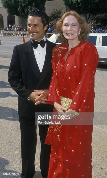 Actress Katherine Helmond and artist David Christian attending 40th Annual Primetime Emmy Awards on August 28 1988 at the Pasadena Civic Auditorium...
