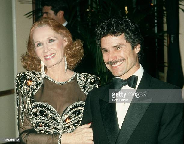 Actress Katherine Helmond and artist David Christian attending 43rd Annual Golden Globe Awards on January 24 1986 at the Beverly Hilton Hotel in...