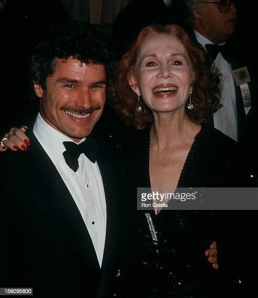 Actress Katherine Helmond and artist David Christian attending 44th Annual Golden Globe Awards on January 31 1987 at the Beverly Hilton Hotel in...