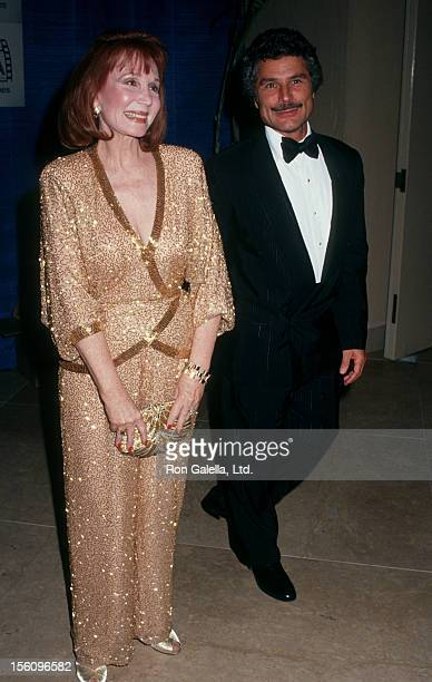 Actress Katherine Helmond and artist David Christian attending Eighth Annual American Cinema Awards on January 12 1991 at the Beverly Hilton Hotel in...