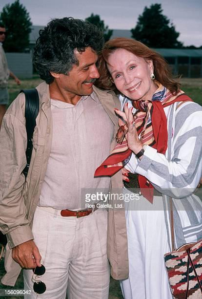 Actress Katherine Helmond and artist David Christian attending 'Scenerey Greenery Benefit Party' on July 28 1990 at Montauk Manor in Monauk New York