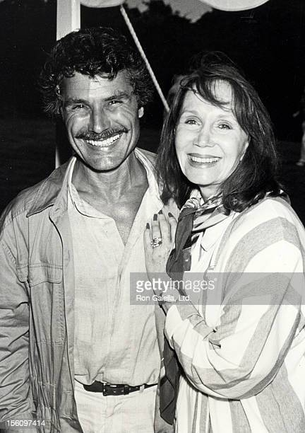 Actress Katherine Helmond and artist David Christian attending 'Scenery Greenery Benefit Party' on July 28 1990 at Montauk Manor in Montauk New York