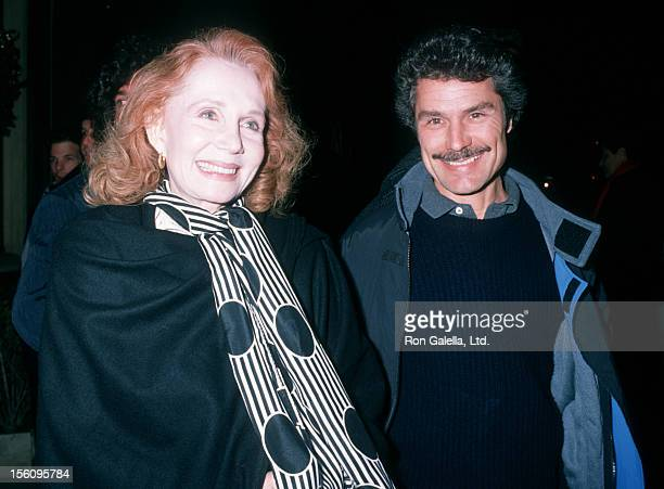 Actress Katherine Helmond and artist David Christian attending the premiere of 'Working Girl' on December 19 1988 at 20th Century Fox Studios in...