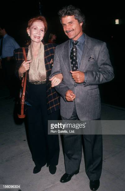 Actress Katherine Helmond and artist David Christian attending the premiere of 'The Fisher King' on September 16 1991 at the Academy Theater in...