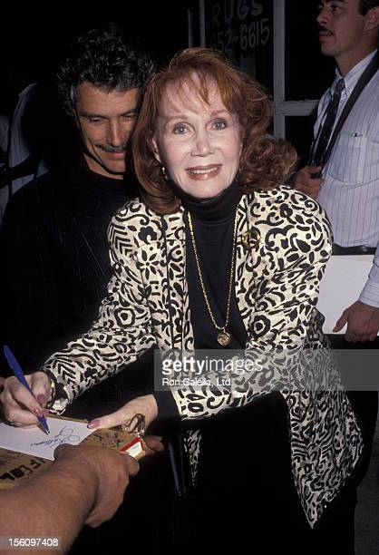 Actress Katherine Helmond and artist David Christian attending the opening of 'Wrong Turn Lungfish' on May 21, 1992 at the Coronet Theater in West...