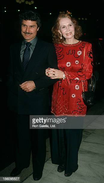 Actress Katherine Helmond and artist David Christian being photographed on December 17 1986 at the Century Plaza Hotel in Century City California