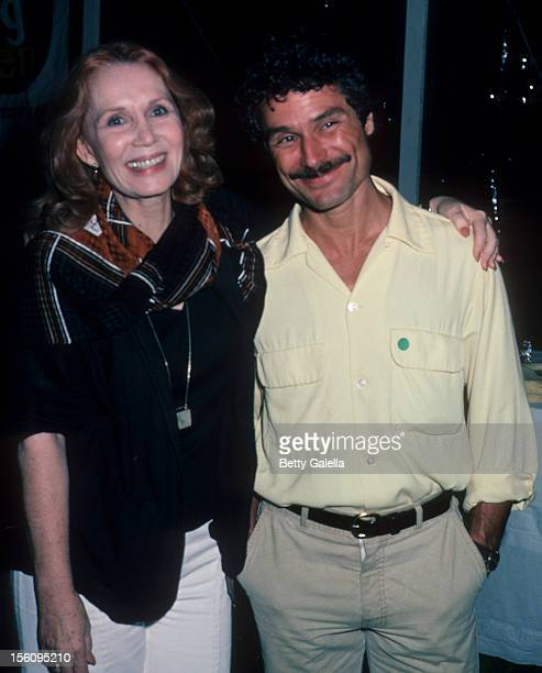 Actress Katherine Helmond and David Christian attending 'Scenery Greenery Benefit Party' on July 28 1984 at Montauk Downs in Monauk New York