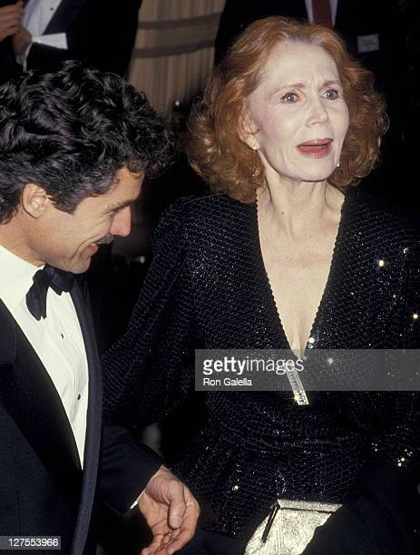 Actress Katherine Helmond and husband David Christian attend 44th Annual Golden Globe Awards on January 31 1987 at the Beverly Hilton Hotel in...