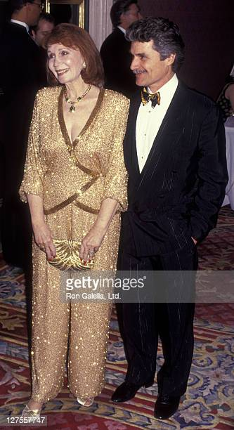 Actress Katherine Helmond and husband David Christian attend Red Ball Benefit for Mary Lee Johnson Institute of NYU on February 13 1995 at the Plaza...