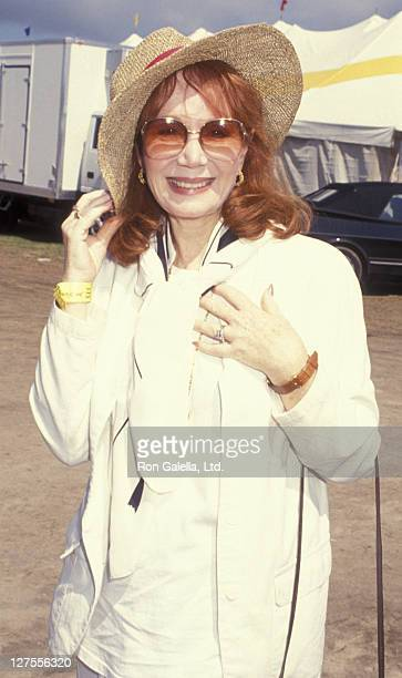 Actress Katherine Helmond attends Hampton Classic Horse Show on September 5 1993 in East Hampton New York