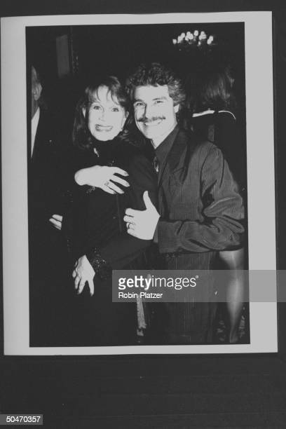 Actress Katherine Helmond posing w 2nd husband David Christian at Radio City Music Hall for the Grammy Awards ceremony