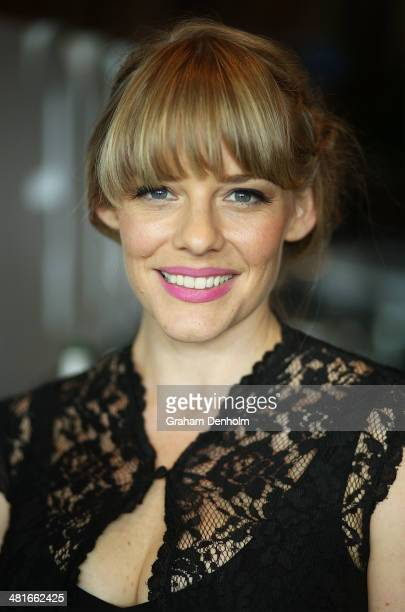 Actress Katherine Hicks attends the 65th Logie Awards nominations event held at Club 23 Crown Towers on March 31 2014 in Melbourne Australia