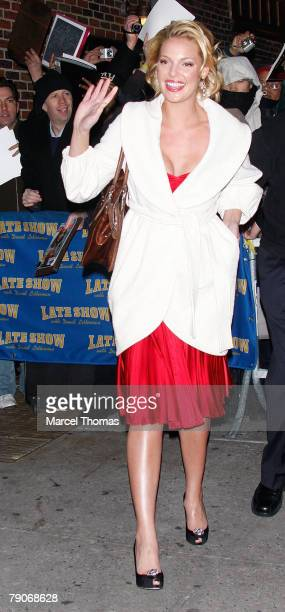 Actress Katherine Hiegl visits 'Late Show With David Letterman' at the Ed Sullivan theater on January 16 2008 in New YorkCity New York