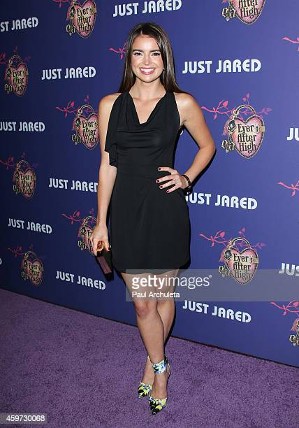 Actress Katherine Hughes attends Just Jared's Homecoming Dance at the El Rey Theatre on November 20 2014 in Los Angeles California