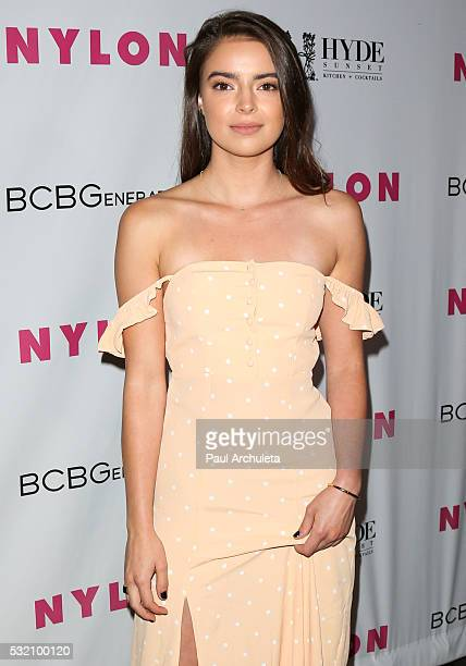 Actress Katherine Hughes attends NYLON Magazine's annual Young Hollywood May issue Event at HYDE Sunset Kitchen Cocktails on May 12 2016 in West...