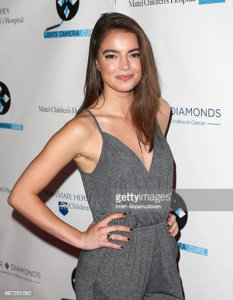 Actress Katherine Hughes attends the 4th Annual Lights Camera Cure Benefiting Mattel Children's Hospital UCLA and The Four Diamonds Fund at Avalon on...