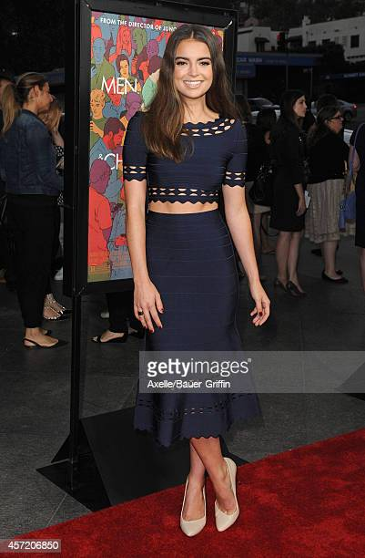 Actress Katherine Hughes attends the premiere of 'Men Women and Children' at DGA Theater on September 30 2014 in Los Angeles California