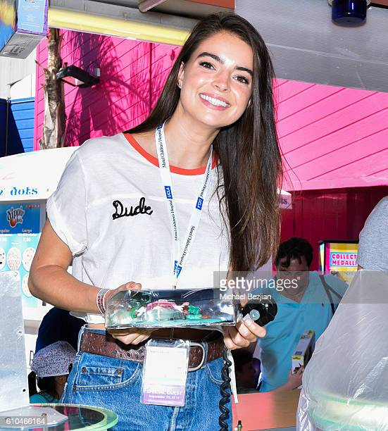 Actress Katherine Hughes volunteers at the 17th Annual Mattel Party On The Pier on September 25 2016 in Santa Monica California