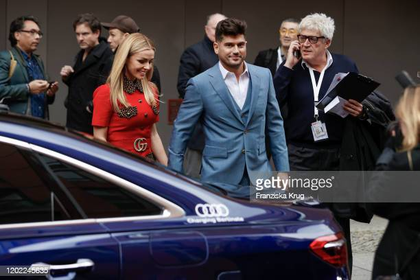 Actress Katherine Jenkins and director Andrew Levitas after the Minamata photo call during the 70th Berlinale International Film Festival Berlin at...