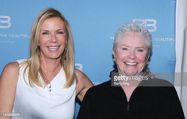 Actress Katherine Kelly Lang and actress Susan Flannery attend 'The Bold And The Beautiful' 25th silver anniversary party on March 10 2012 in Los...