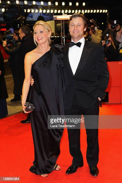 Actress Katherine LaNasa and actor Grant Show attend the 'Jayne Mansfield's Car' Premiere during day five of the 62nd Berlin International Film...