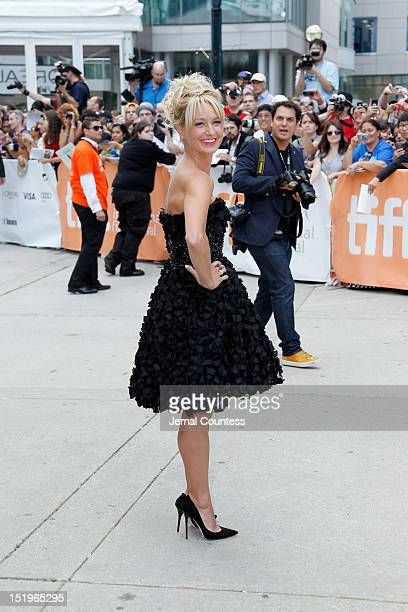 Actress Katherine LaNasa arrives at the Jayne Mansfield's Car Premiere during the 2012 Toronto International Film Festival at the Roy Thomson Hall on...