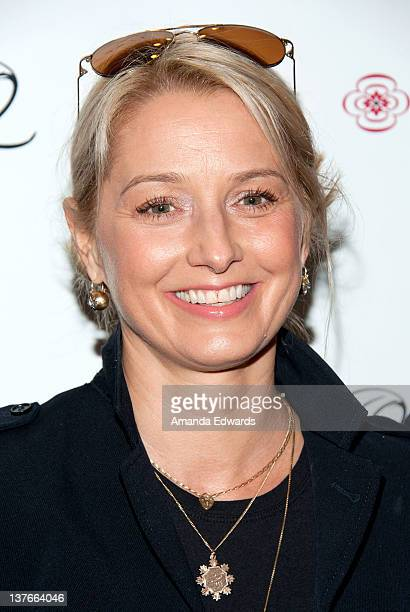 Actress Katherine LaNasa arrives at the launch of actress Jodi Lyn O'Keefe's new jewelry collection Q at Dari Boutique on January 23 2012 in Studio...