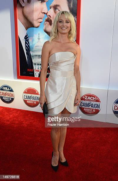 Actress Katherine LaNasa arrives at the Premiere of Warner Bros Pictures' The Campaign at Grauman's Chinese Theatre on August 2 2012 in Hollywood...