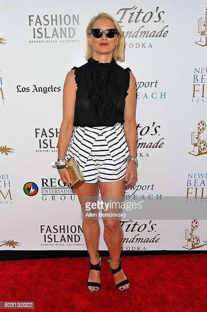 Actress Katherine LaNasa attends the 17th annual Newport Beach Film Festival opening night premiere of 'After The Reality' at Lido Live Theater on...