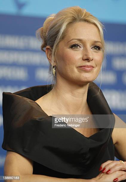 Actress Katherine LaNasa attends the 'Jayne Mansfield's Car' Press Conference during day five of the 62nd Berlin International Film Festival at the...