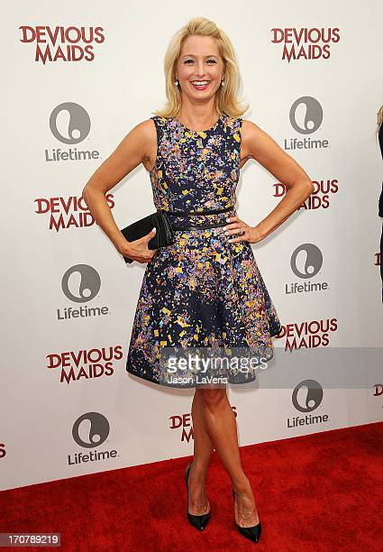 Actress Katherine LaNasa attends the premiere of Devious Maids at BelAir Bay Club on June 17 2013 in Beverly Hills California