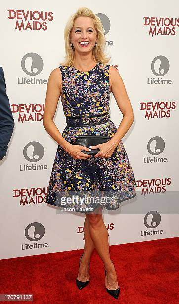 Actress Katherine LaNasa attends the premiere of 'Devious Maids' at BelAir Bay Club on June 17 2013 in Beverly Hills California