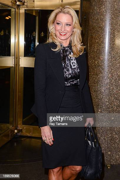 Actress Katherine LaNasa leaves the 'New York Live' taping at the NBC Rockefeller Center Studios on January 14 2013 in New York City