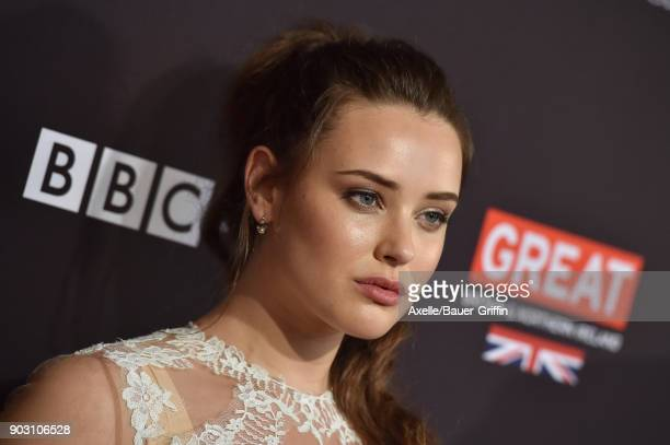 Actress Katherine Langford arrives at The BAFTA Los Angeles Tea Party at Four Seasons Hotel Los Angeles at Beverly Hills on January 6 2018 in Los...