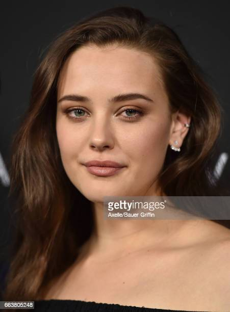 Actress Katherine Langford arrives at the Premiere of Netflix's '13 Reasons Why' at Paramount Pictures on March 30 2017 in Los Angeles California