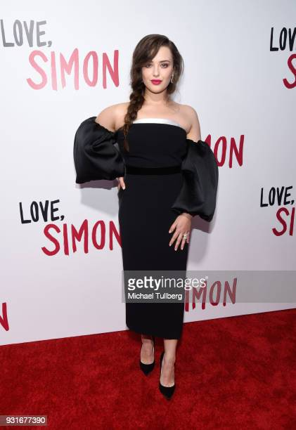 "Actress Katherine Langford attends a special screening of 20th Century Fox's ""Love, Simon"" at Westfield Century City on March 13, 2018 in Los..."