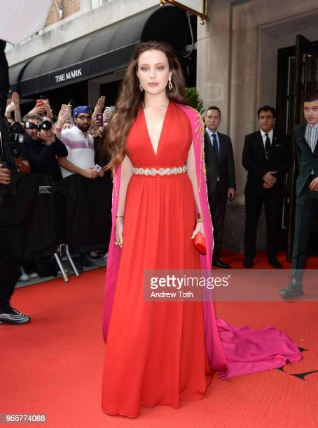 Actress Katherine Langford attends as The Mark Hotel celebrates the 2018 Met Gala at The Mark Hotel on May 7 2018 in New York City