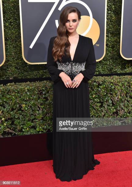 Actress Katherine Langford attends the 75th Annual Golden Globe Awards at The Beverly Hilton Hotel on January 7 2018 in Beverly Hills California