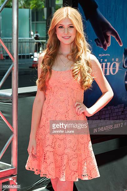 Actress Katherine McNamara arrives at the 2014 Los Angeles Film Festival's screening of Earth To Echo hosted at the Regal Cinemas LA Live on June 14...