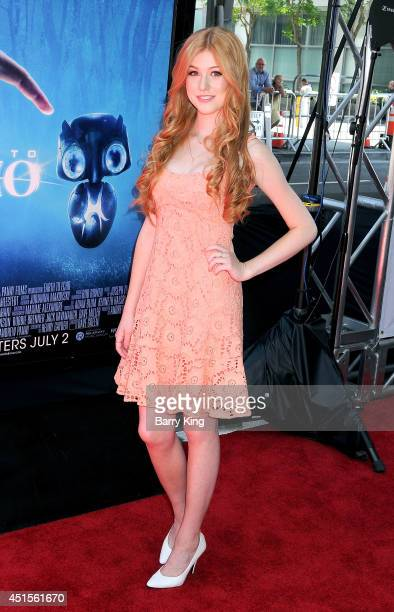 Actress Katherine McNamara arrives at the 2014 Los Angeles Film Festival Screening Of 'Earth To Echo' on June 14 2014 at Regal Cinemas LA Live in Los...