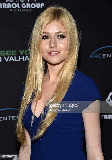 """Actress Katherine McNamara arrives at the Los Angeles premiere of """"See You In Valhalla"""" at the ArcLight Cinemas on April 21, 2015 in Hollywood,..."""