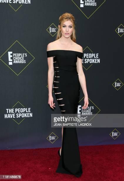 US actress Katherine McNamara arrives for the 45th annual E People's Choice Awards at Barker Hangar in Santa Monica California on November 10 2019