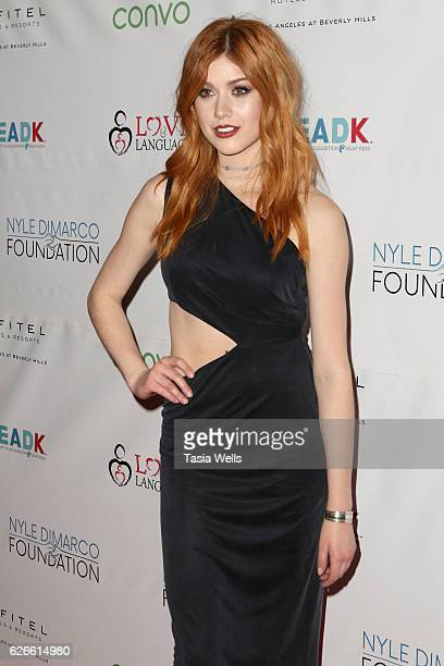 Actress Katherine McNamara attends An Evening with Nyle DiMarco at the Sofitel Los Angeles At Beverly Hills on November 29 2016 in Los Angeles...